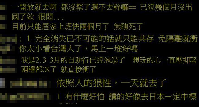 武肺疫情趨緩...網問:「解禁多久敢出國?」超多人不怕死!