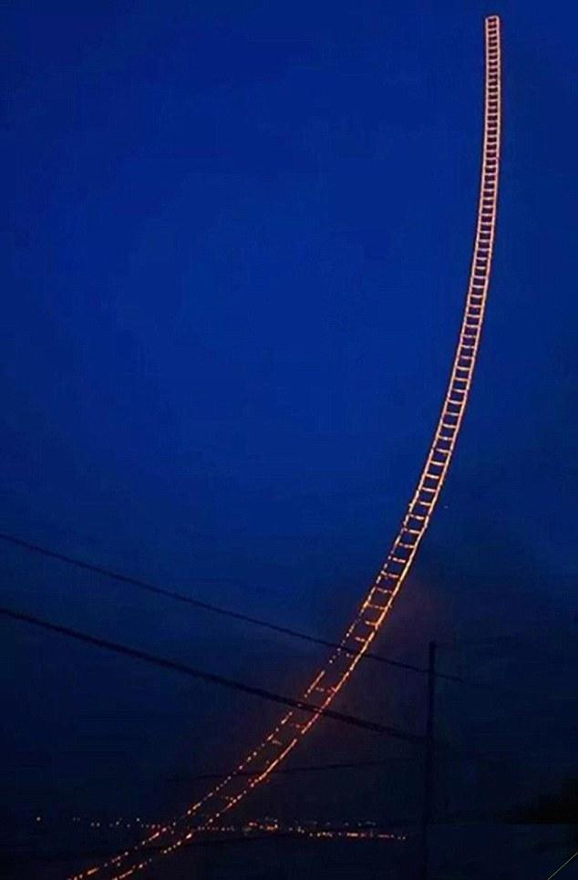 藝術家打造「通往天空階梯」 倒數完竟「整條飛上天」!