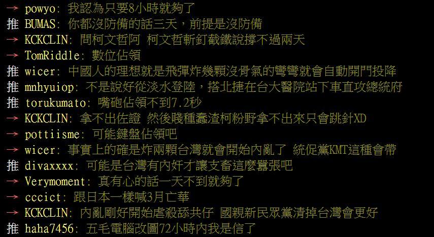 中國武將堅持「3天就能武統台灣」?網專業打臉:只要7.2秒!