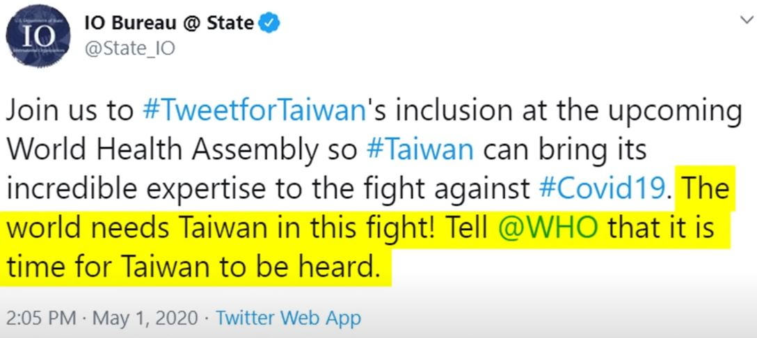 華府確定推「台灣加入WHO」 民眾傻眼:只是被美國利用