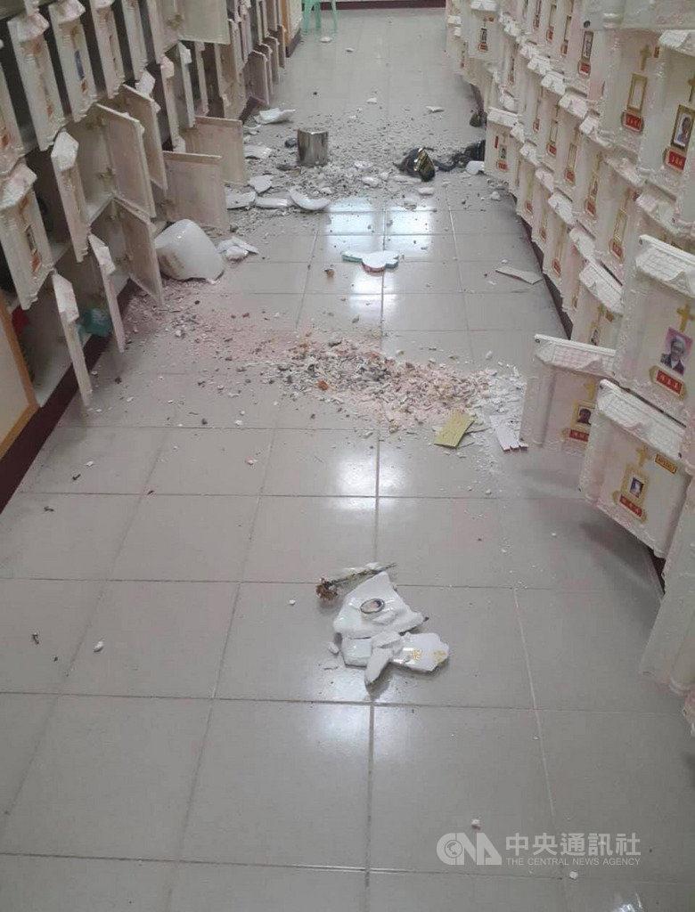 靈骨塔因地震「碎一地」骨灰混在一起 家屬心碎:怎麼沒上鎖?
