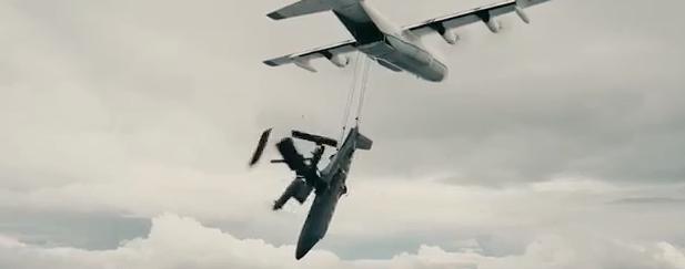 天能飛機爆破