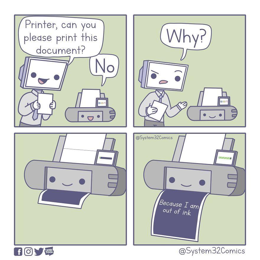15張「電腦重度使用者」會笑超大聲的中肯漫畫 人類最怕藍色?