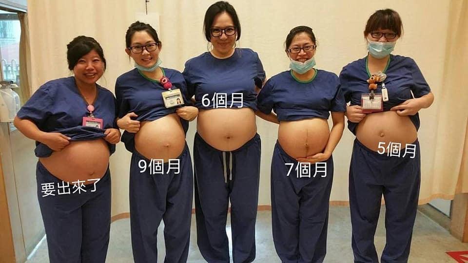 5位護理師「挺孕肚堅守ICU」 網暖爆:母親節快樂❤