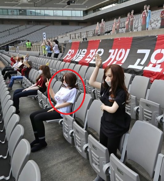 韓球賽用「充氣娃娃當觀眾」被罵爆 主辦辯解:不是床上用的