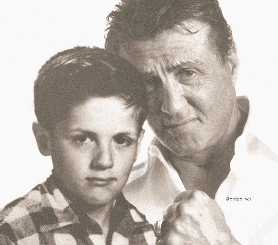 15位名人搭時光機「和自己合照」 年輕貝克漢「跟兒子撞臉」!