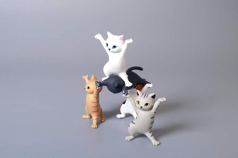 日本「你出事貓咪扛」廢小物 「4隻放一起」網笑翻:有音樂!
