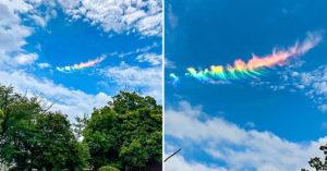 天空出現「七色雲彩」網瘋傳 專家揭「罕見現象」:不是彩虹!