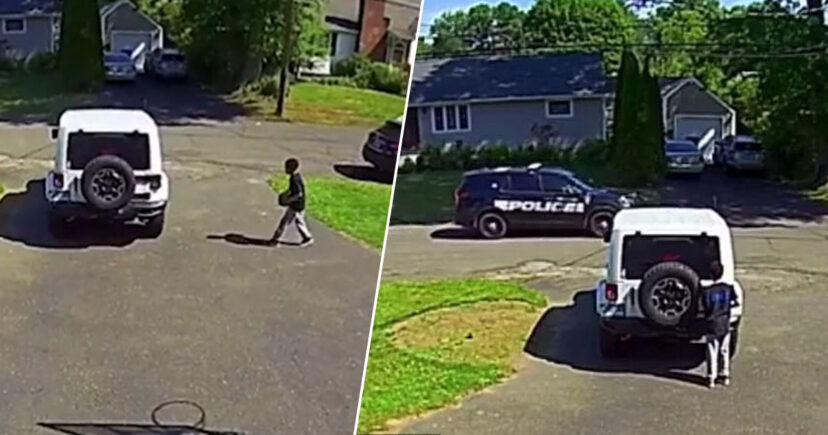 黑人男孩在家玩「警車經過」嚇到躲起來 爸爸問完理由心碎了