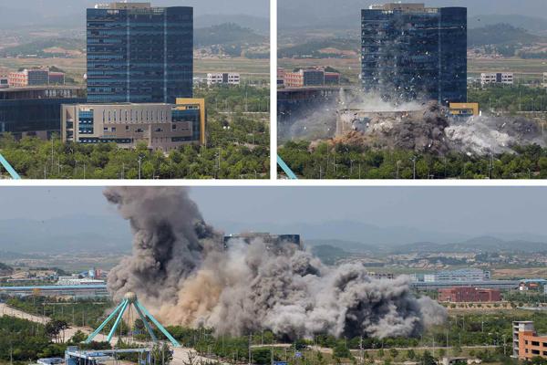 金與正一句話就炸爛「南韓友情大樓」 蓋不到2年「18億」變平地
