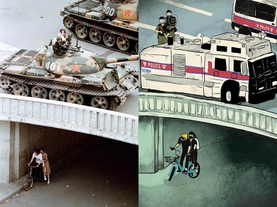 插畫家打造「六四重演」畫作 31年後「在香港」重新上演