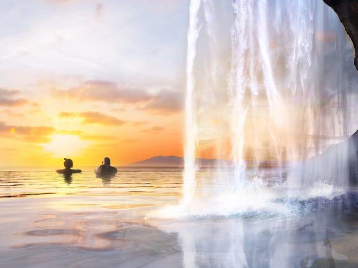 冰島打造「無邊際溫泉」可以獨享整片海洋 躺下還能看極光
