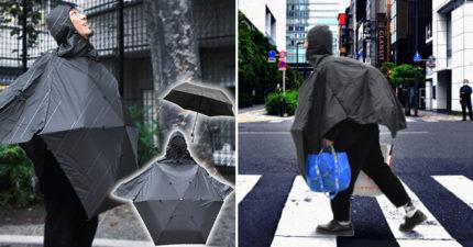 日推「能穿的摺疊傘」雨神必備 唯一缺點就是正面看「超羞恥」