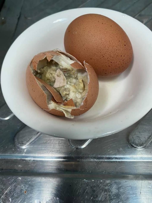 吃水煮蛋敲出「詭異筍乾」嚇傻 專家:不可能是寄生蟲!