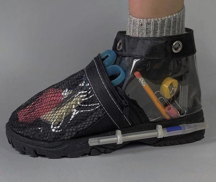 27張「有錢什麼都買得到」的證據 一雙鞋讓你「隨身帶鬥魚」!
