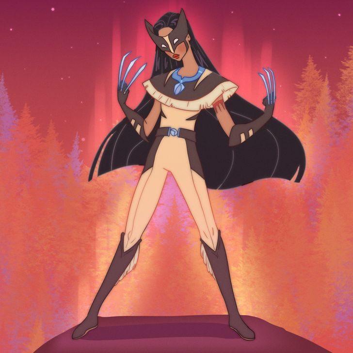 迪士尼公主 漫威英雄