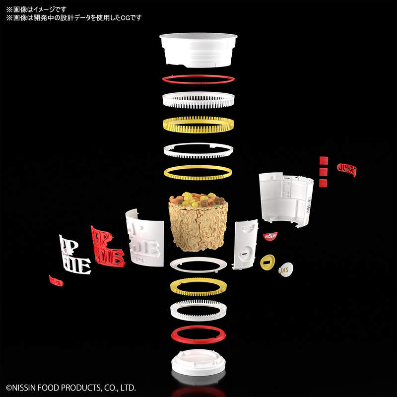 日清「杯麵模型」精緻度太逼人 麵條還要「分開組裝」!