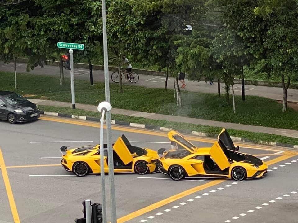 藍寶堅尼追撞「同色同款兄弟」 網友看傻:2棟豪宅飛了