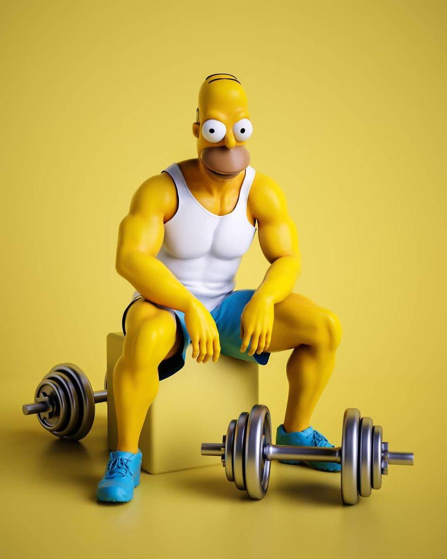 12個卡通角色「長出人類身體」的畫面 六塊肌米奇...不行!