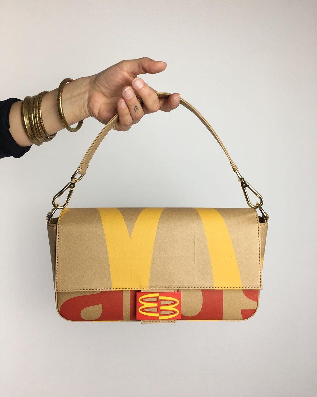 他把「垃圾場廢物」變時尚單品 超實用「麥當勞包」男生也想搶