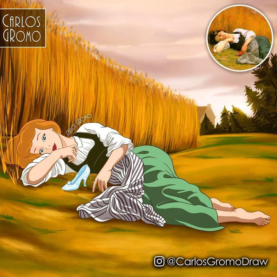 22張迪士尼「亂入世界名畫」 公主王子「團體聯誼」突破童話!