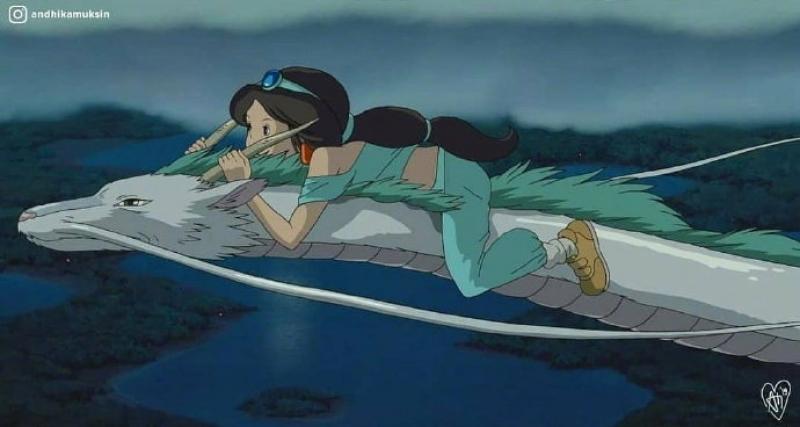 迪士尼角色「亂入吉卜力」超崩毀!千尋白龍「浪漫瞬間」變案發現場