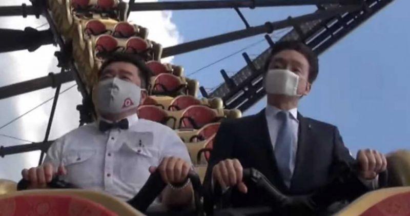 影/遊樂園請社長示範「坐雲霄飛車不尖叫」他還能放手喬口罩