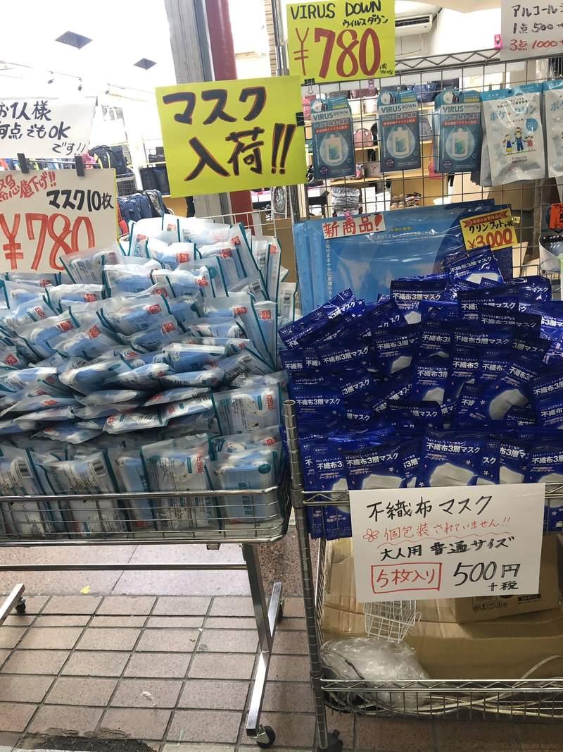 東京觀光區「口罩堆成山」大滯銷 日人分析:都是中國人多的地方