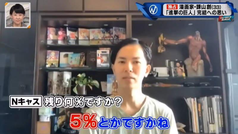 《進擊的巨人》作者爆「隨時會結局」 透露「最後進度」剩最後5%!