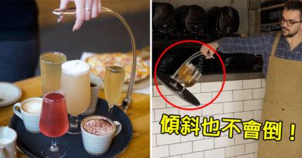 服務業夢幻產品「單手托盤」 超神奇設計「劇烈搖晃」也不倒!