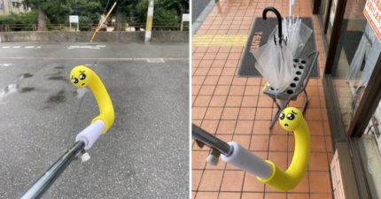 日本「防偷傘小物」上演苦肉計 超無辜表情:拜託鼻要啦 QQ