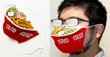 貪吃仔必備「拉麵口罩」料多實在!「眼鏡霧霧的」戴起來更適合