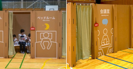 日推「紙板做的」隔離房!大到能「在裡面開會」空手就能組裝