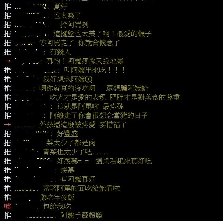 網問:怎讓阿嬤相信自己不餓 釣出「一堆寶貝孫子」全淚崩QQ