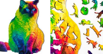 超療癒拼圖「用貓拼出貓」飆出新難度 連「空白處」都是萌點♥