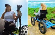 網紅為女友打造「能上山下海」的極猛輪椅!已量產可選顏色