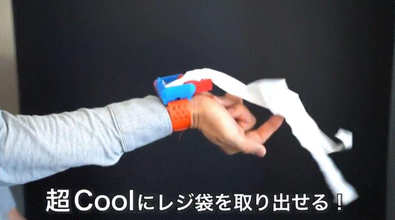 網友自製「購物袋噴射器」爆紅 一條「橡皮筋」就能變蜘蛛人!
