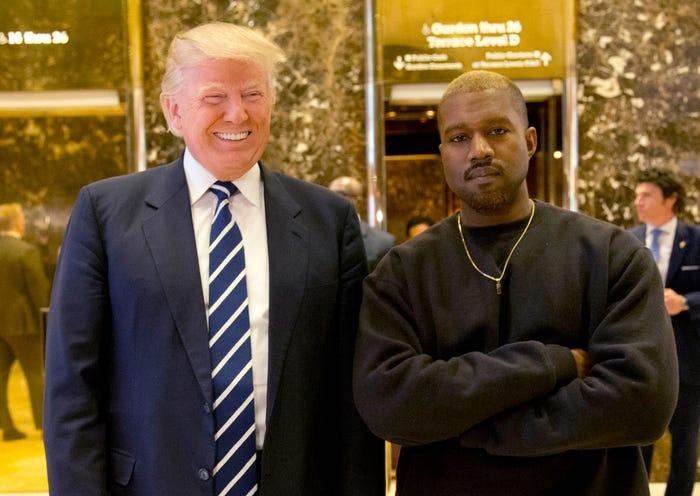 肯伊威斯特「宣布選總統」迎戰偶像川普 特斯拉總裁:我挺他!