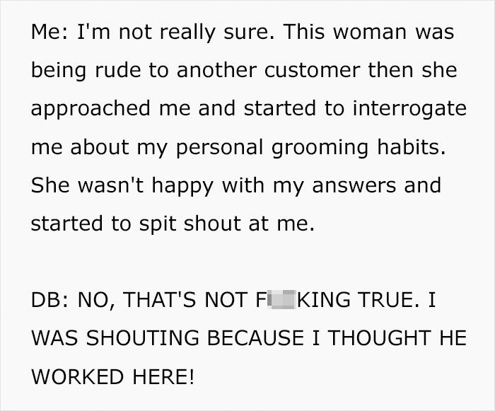 長太像店員被「奧客女」盯上找碴 決定「演到底」讓她徹底瘋掉