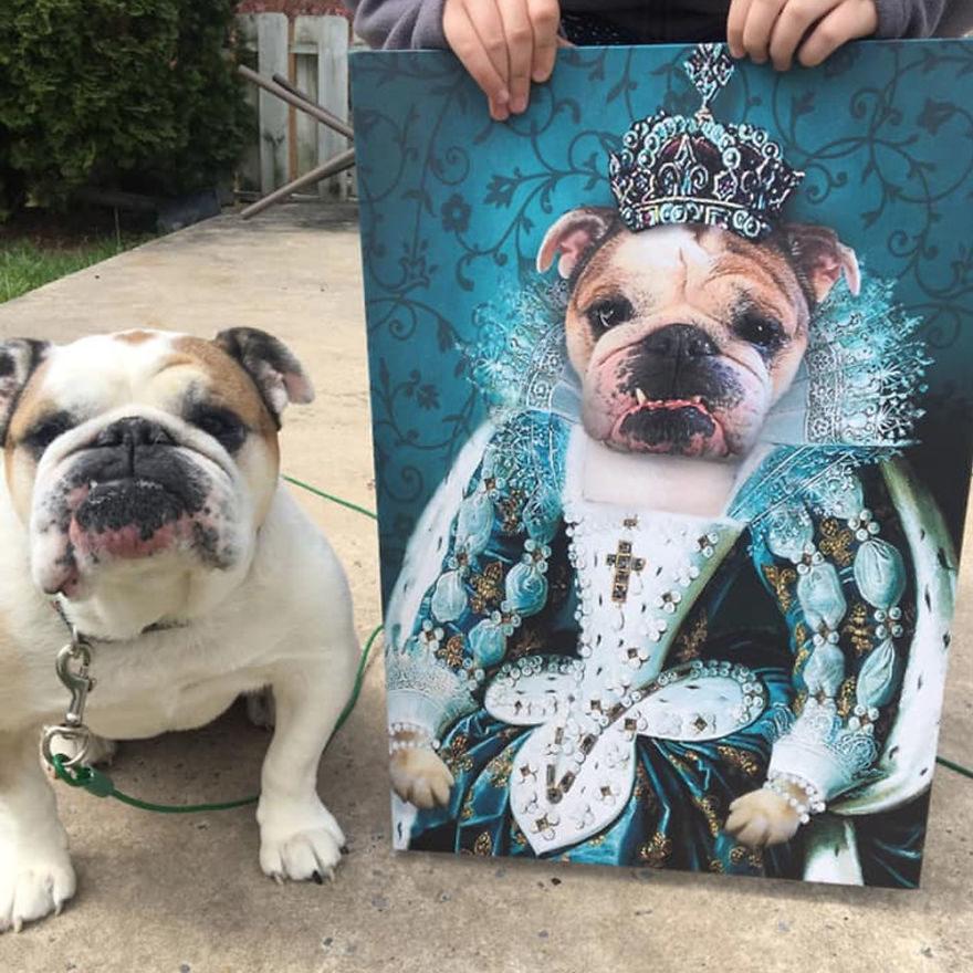 傳照片就能畫成「寵物貴族肖像」掛起來膜拜!「壞狗狗」也有專屬造型