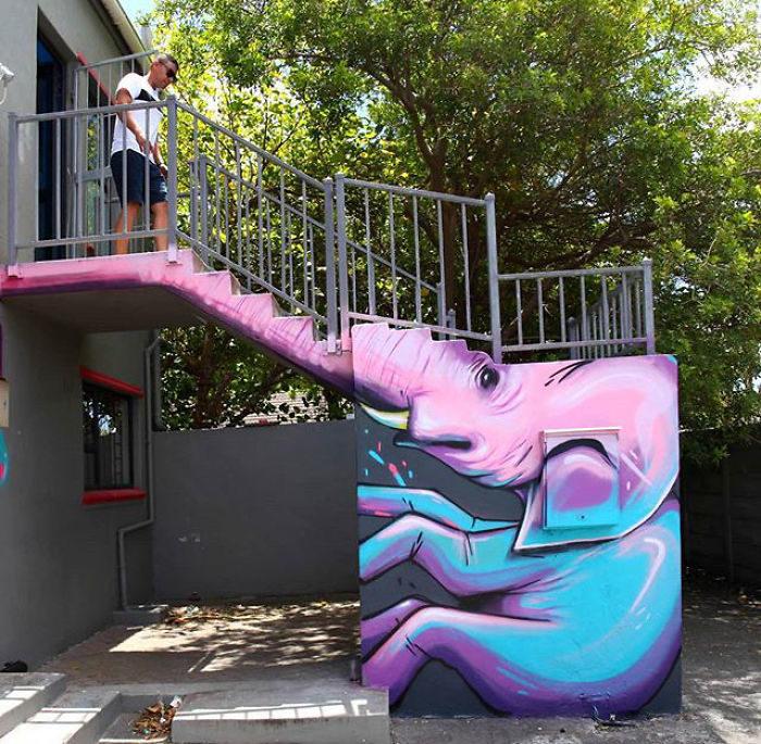 藝術家打造「結合街景的塗鴉」把貧窮村莊改造成網美聖地