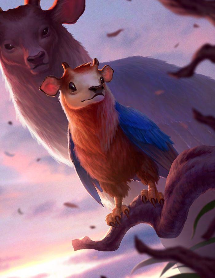 藝術家想像「神獸」兒時萌樣 「貓頭鷹熊」出娃娃會大賣