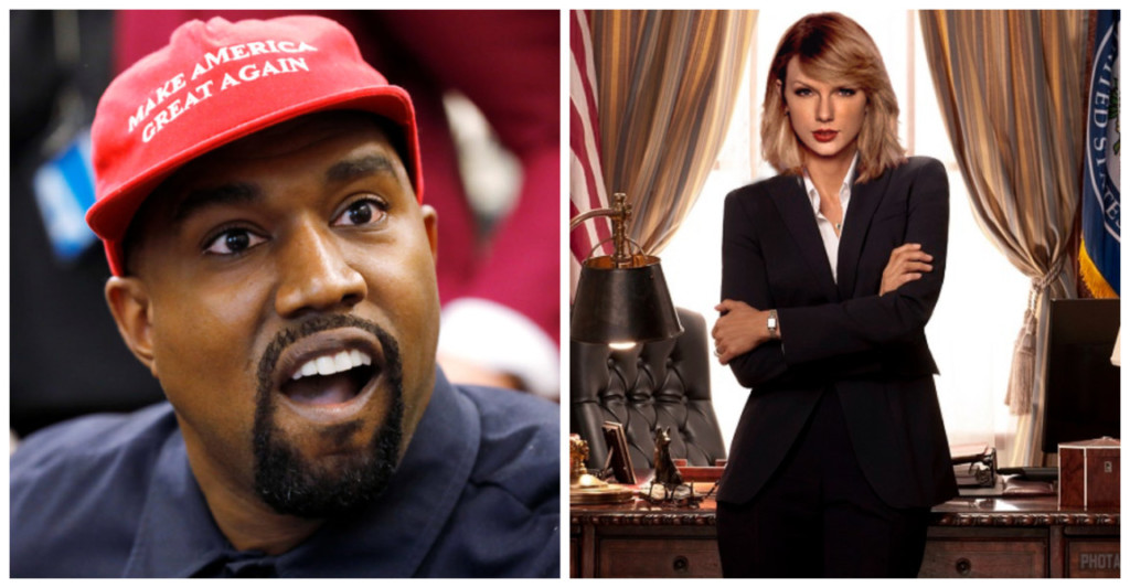 肯爺「選總統」泰勒絲也要?粉絲狂拱「小天后參選」原因超爆笑!