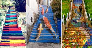 17個「驚艷全世界」的藝術階梯 費城階梯讓你「一步走進瞳孔」