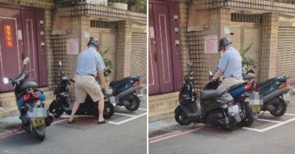 家門前車格被停 阿伯把「別人車移到紅線」...自己停車格!