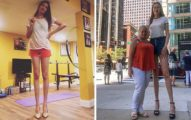 正妹擁127公分「逆天長腿」 辣成這樣還只是「世界第二」!