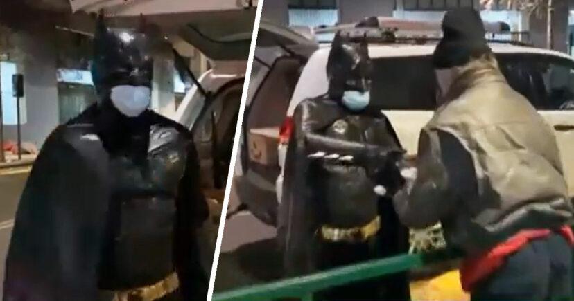 失業率飆10年新高!神秘蝙蝠俠「每天半夜出任務」送食物給街友