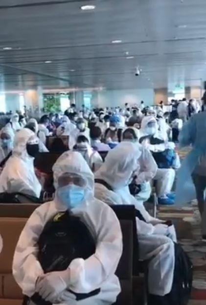 機場乘客「全副武裝」像拍「生化電影」 網大讚:台灣應該看看!