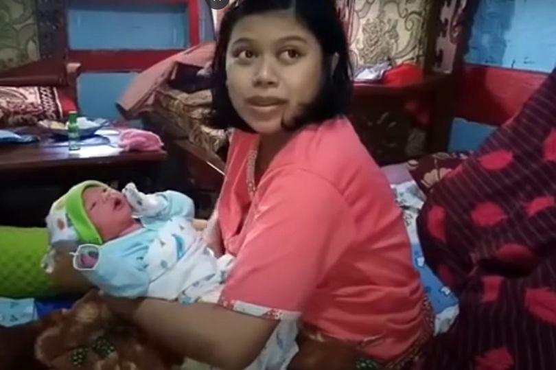 28歲女子「突然胃抽筋」 1小時後...直接生出兒子!