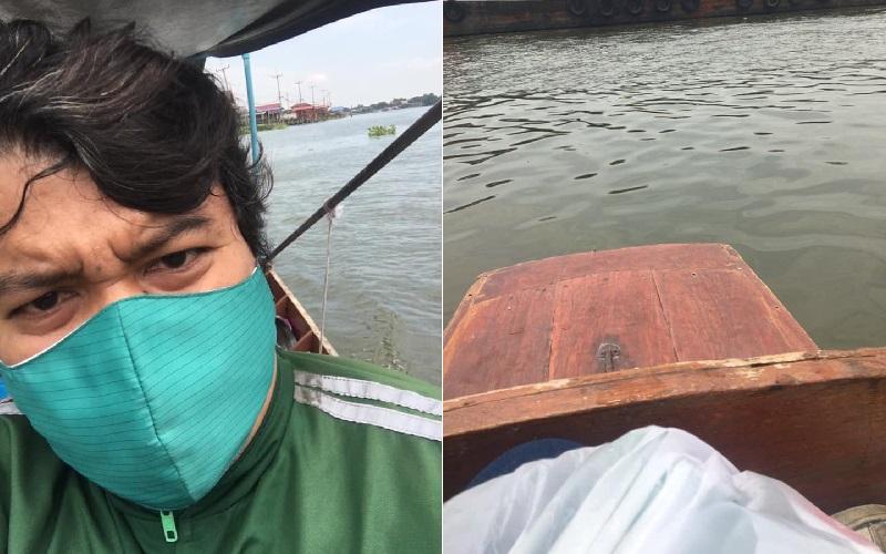 使命必達!發現買家在「河中央」 外送員「划船也要送到」被讚翻